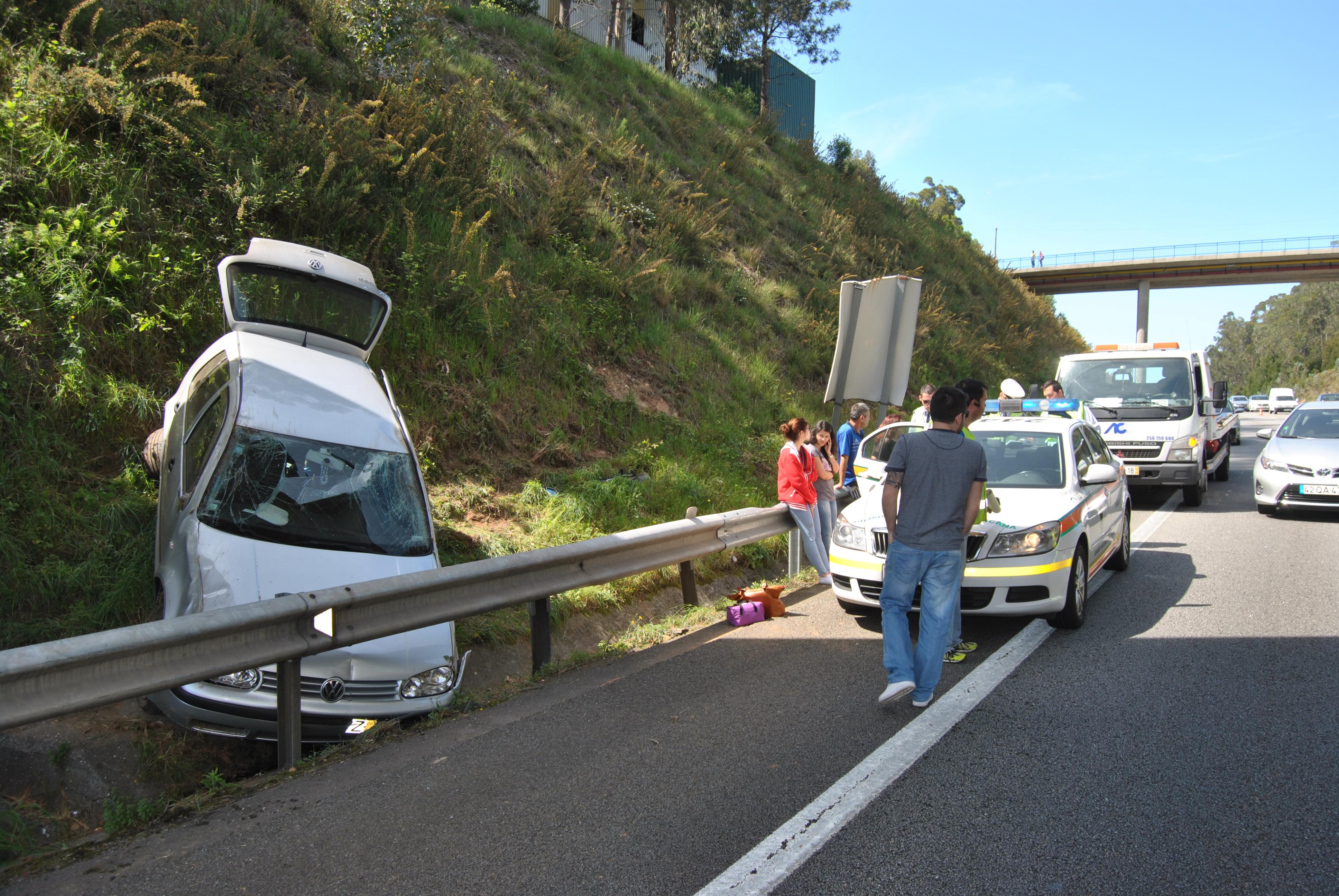 Dois feridos em acidente na A29
