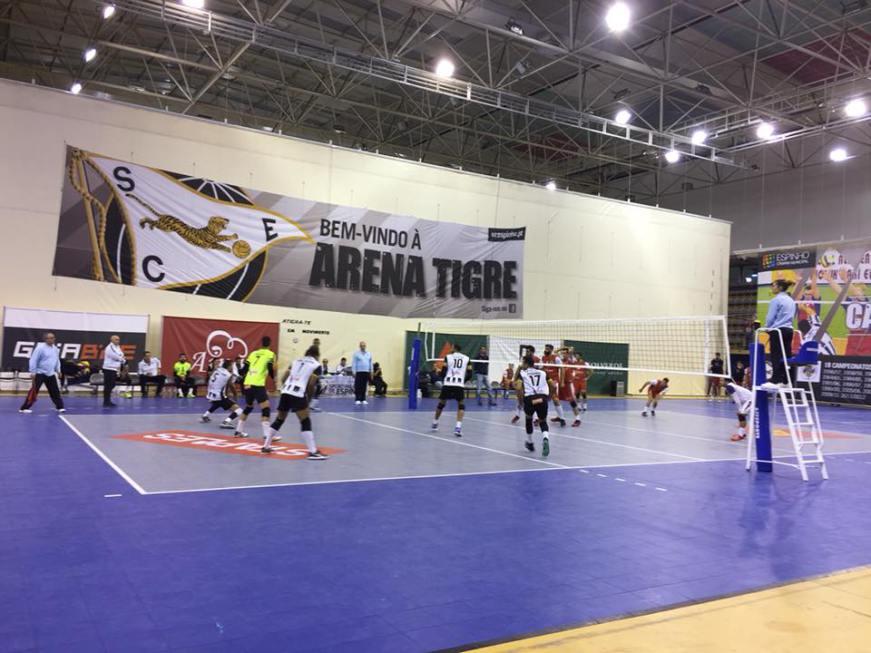 Voleibol: SC Espinho vence o VC Viana