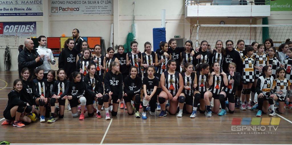 Voleibol SCE: Minis B femininas vencem em S. Mamede