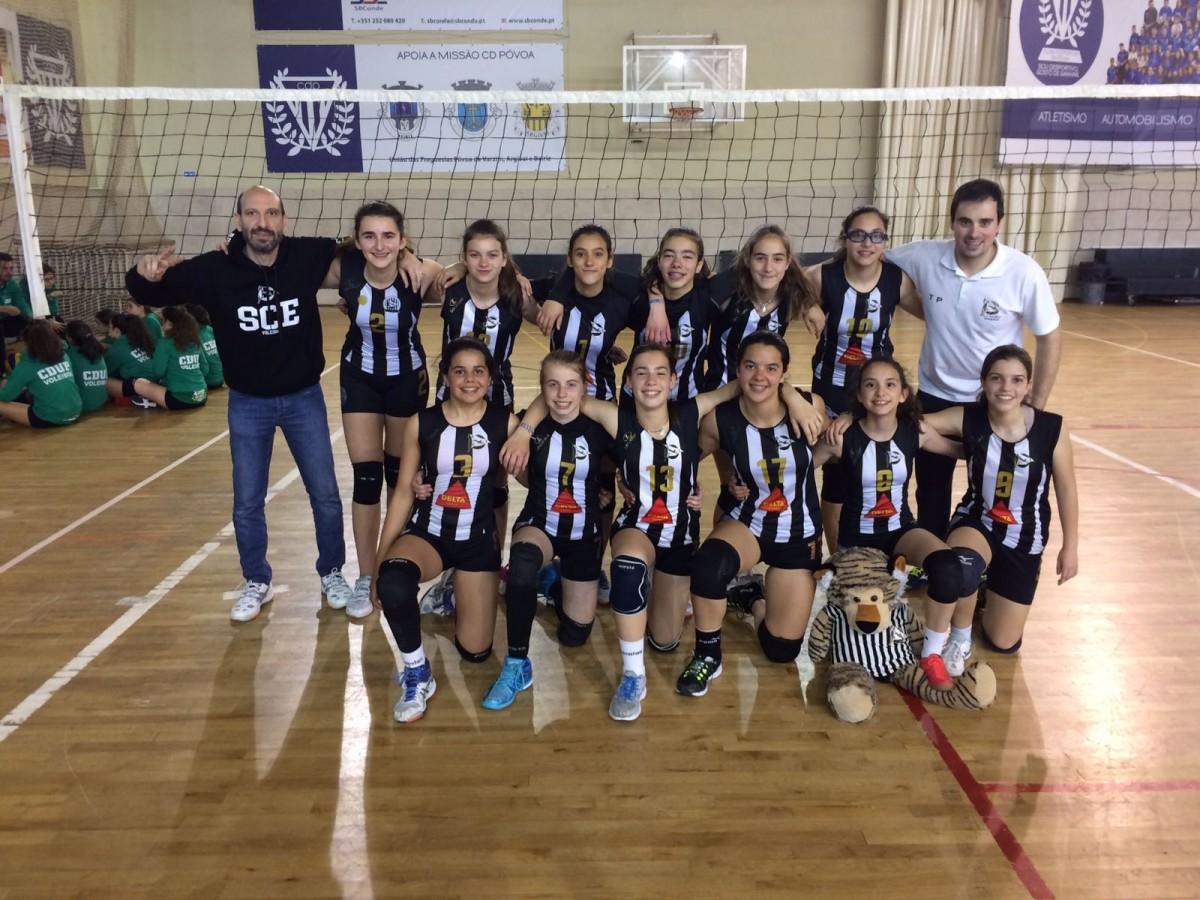 Voleibol: Minis B do SCE vencem Torneio Manuel Puga