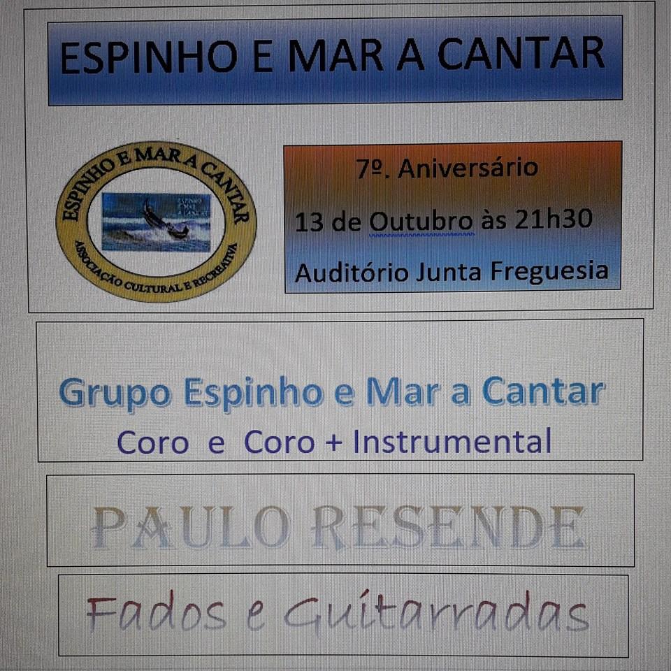 """Concerto """"Espinho e Mar a Cantar"""" – 7º Aniversário"""
