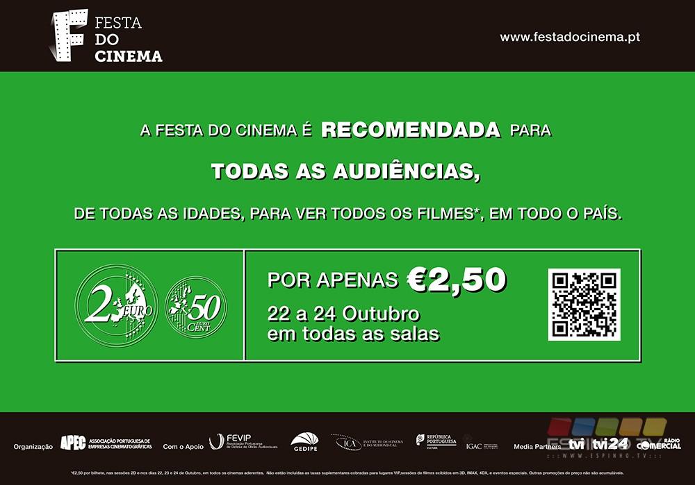 Festa do Cinema: Por 2.5€ vá ao cinema no Centro Multimeios