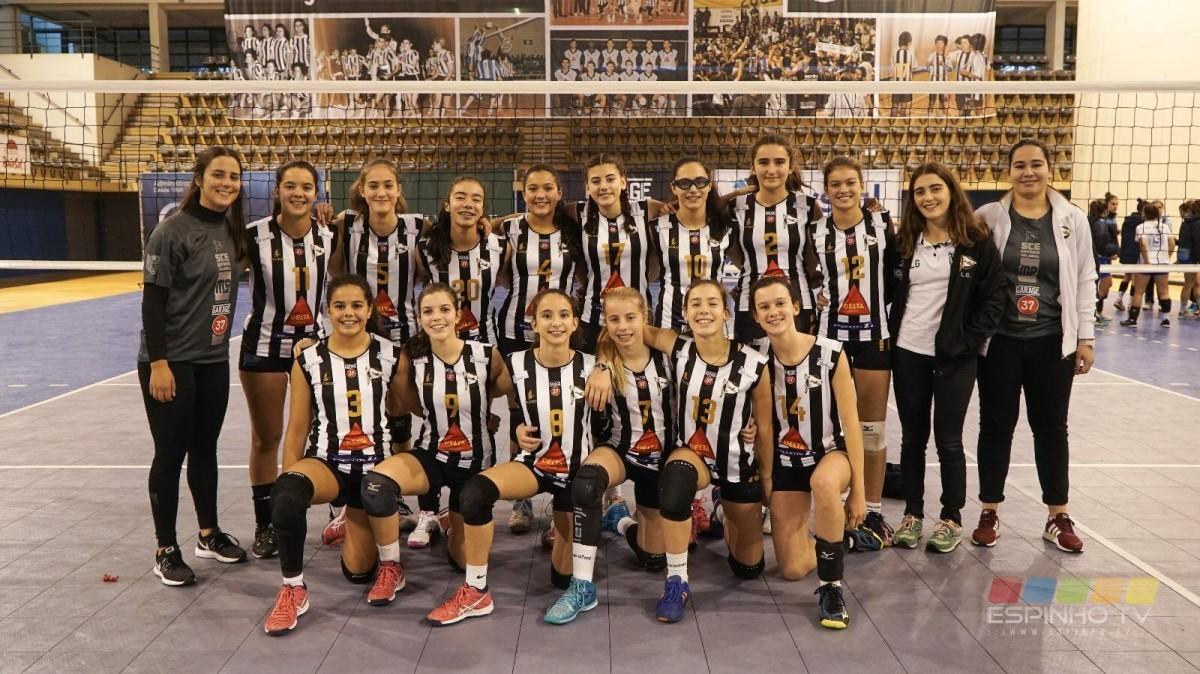 Voleibol: Infantins vencem mais uma vez a equipa de Arcozelo