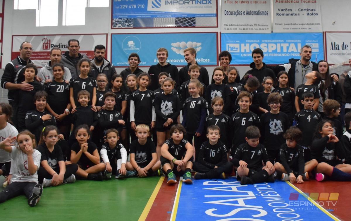 Minis A da AAE iniciam o seu campeonato no Minivoleibol