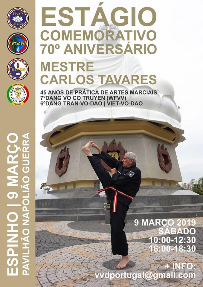 Estágio Comemorativo do 70º Aniversário de Mestre Carlos Tavares