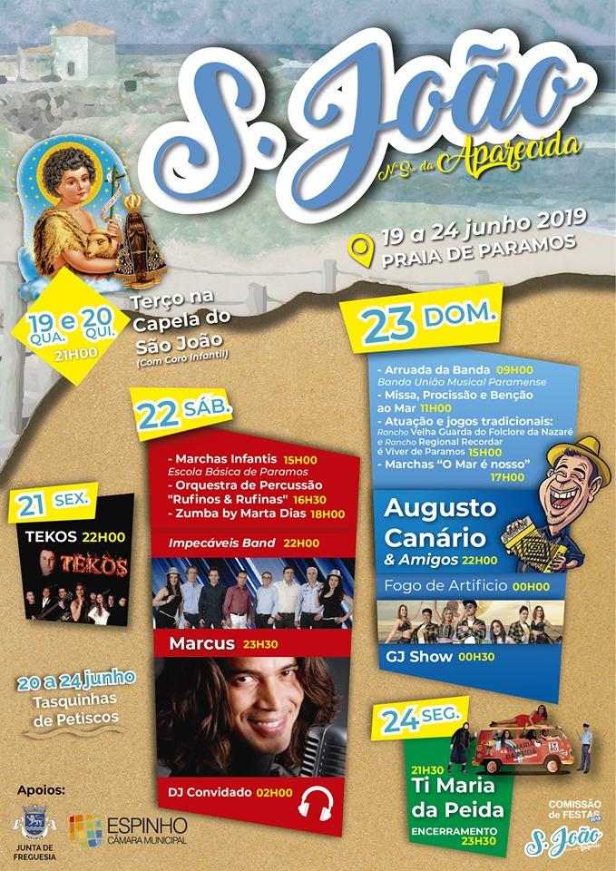 Festas de S. João da Praia de Paramos 2019