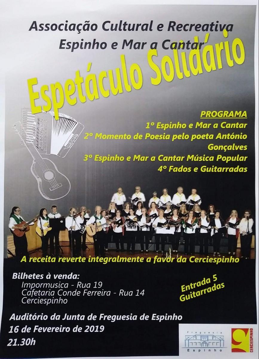 Espetáculo Solidário – Espinho e Mar a Cantar