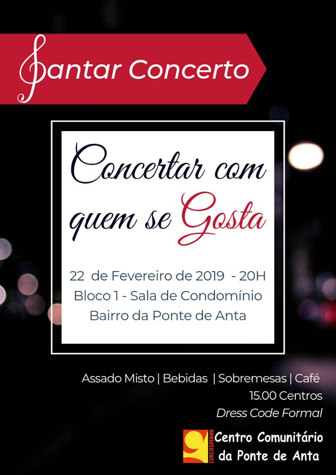 Jantar Concerto no Centro Comunitário da Ponte de Anta