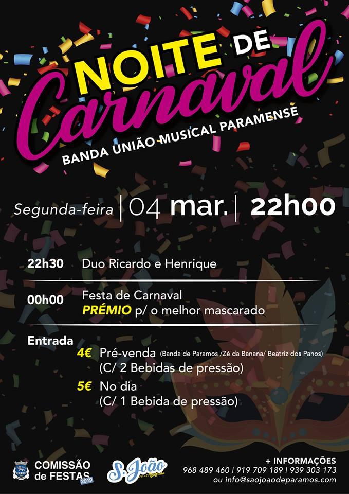 Noite de Carnaval – Banda de Paramos – 2019