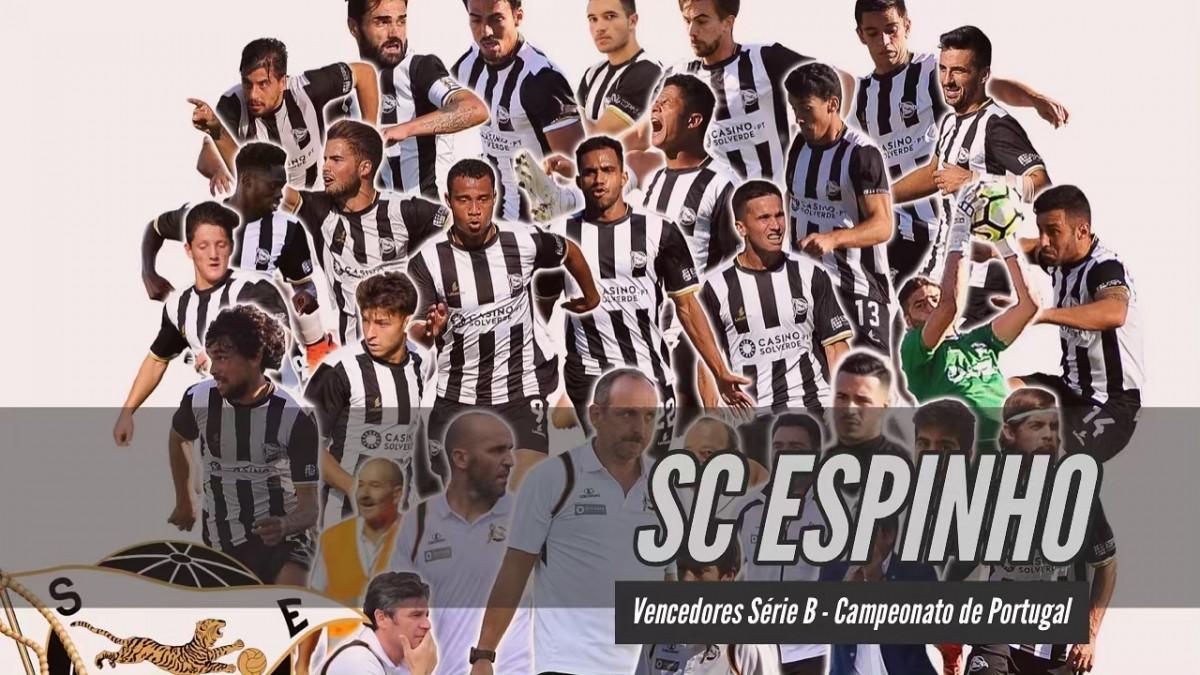Futebol: SC Espinho vencedor Série B  do Campeonato de Portugal