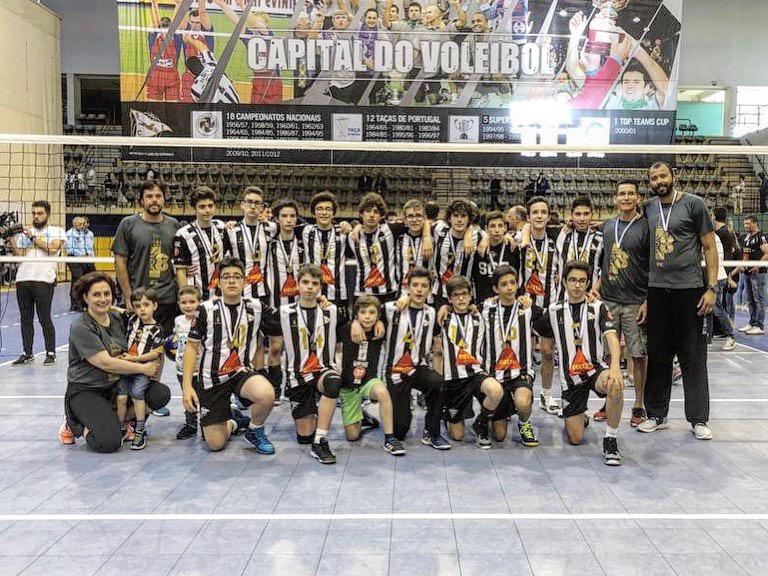 Voleibol SCE: Infantis Masculinos são vice-campeões nacionais