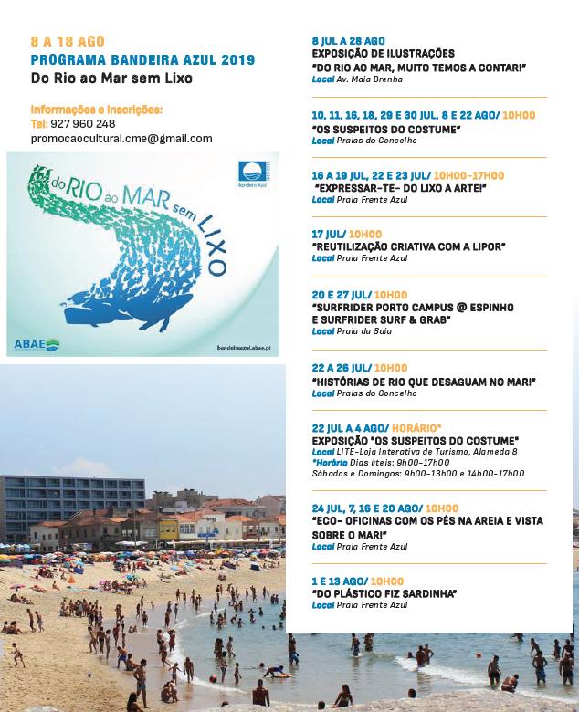 Programa Bandeira Azul 2019 – Do Rio ao Mar sem Lixo